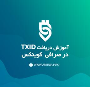 نحوه دریافت TXID در صرافی کوینکس
