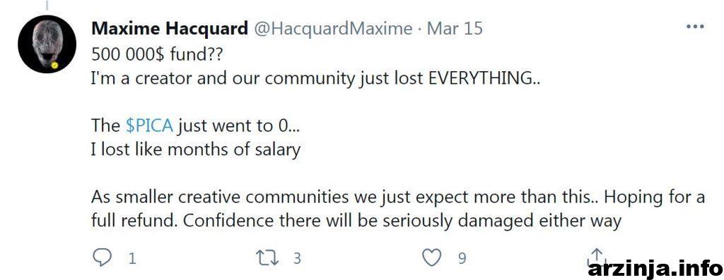 توییت Maxime Hacquard